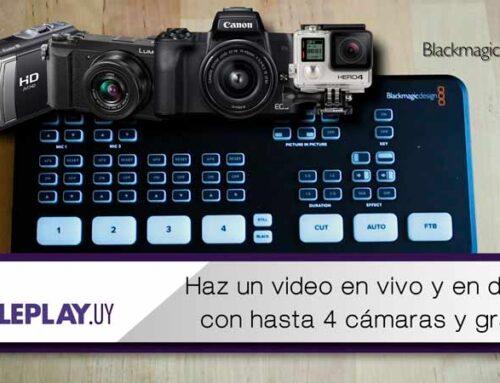 Transmitir en directo con hasta 4 cámaras, con BlackMagick atem mini